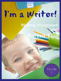 First - Third Grade ELA Homework: WITH PARENT TIPS – EDITABLE - FULL YEAR