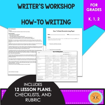 Writer's Workshop How-To Book Writing - Lucy Calkins Inspired
