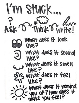 "Writer's Workshop: ""I'm Stuck!"" Anchor Chart"