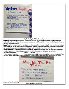 Writer's Workshop - Informational Writing - 3rd grade Unit 2