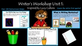 Kindergarten Writer's Workshop: Inspired by Lucy Calkins and Common Core Aligned
