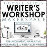 Writer's Workshop Makerspace Google Slides Bundle for Seco