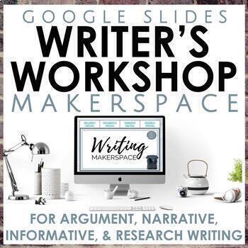 Distance Learning Writer's Workshop Makerspace Google Slides Bundle