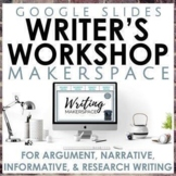 Writer's Workshop Makerspace Google Slides Bundle for Seco