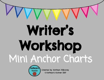Writer's Workshop Mini Anchor Charts
