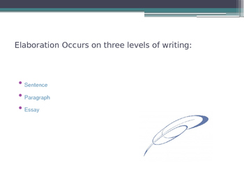 Writer's Workshop Mini lesson: Teaching Elaboration