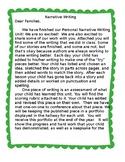 Writing Workshop Narrative Unit Parent Letter