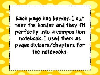 Writer's Workshop Notebooks