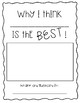 Writer's Workshop Opinion Book Template