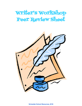 Writer's Workshop- Peer Review Form