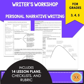 Writer's Workshop: Personal Narrative - 3rd, 4th, 5th Grades