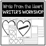 Writer's Workshop Planning Maps- Write From the Heart with Lined Paper