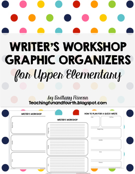 Writer's Workshop Planning Template {Graphic Organizers} Lined and Unlined