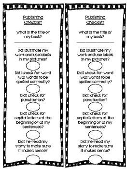 Writer's Workshop Publishing Checklist Writing Stories