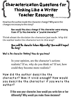 Writer's Workshop: Resources for Writing Strong Characters