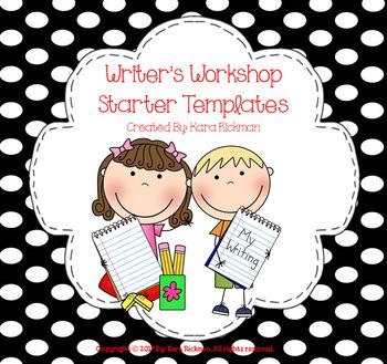 FREE- Writer's Workshop Starter Templates