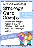 Writer's Workshop Strategy Card Front Covers - EDITABLE