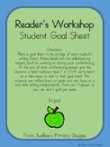 Writer's Workshop Student Goal Sheet
