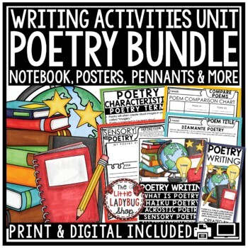 Writer's Workshop: Poetry Unit, Narrative, Expository Writing Prompts 4th Grade