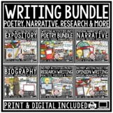 Narrative, Biography, Expository Writing Prompts Opinion, Poetry Writing Digital