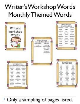 Writer's Workshop Words - Pencil Theme