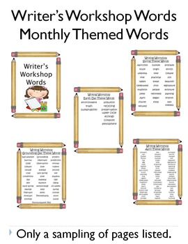 Writer's Workshop Words - Pencil Theme