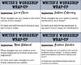 Writer's Workshop Wrap-up Task Cards-- FREEBIE