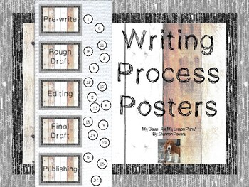 Writer's Workshop Writing Process Monitoring Posters