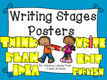 Writing Stages Posters Chevron Pastels