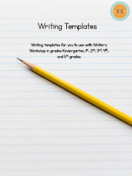 FREE Writer's Workshop Writing Templates