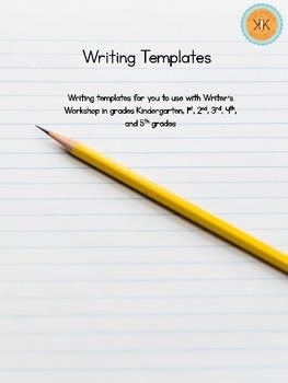 FREE Writer's Workshop Writing Templates