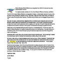 Writer's Workshop editable Parent letter
