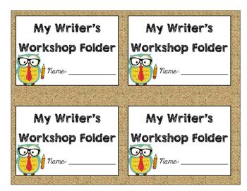 Writer's Workshop folder label