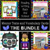 Writer's, Reader's and Math Workshop Mentor Texts and Vocabulary Cards by Skill