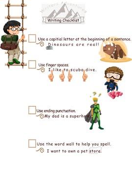 Writers Adventures- Writing Checklist