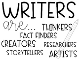 Writers Are...