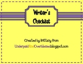 Writer's Checklist FREEBIE