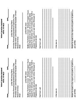 Writers' Correction Worksheet
