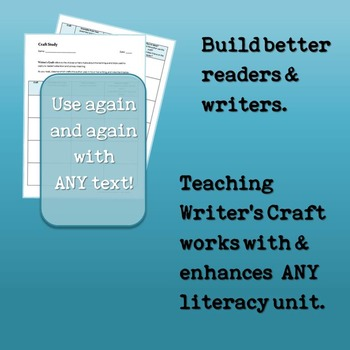 Author's or Writer's Craft Introductory Unit