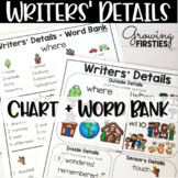 Details Chart and Word Bank for Writers Workshop