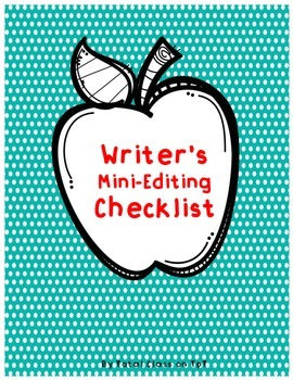 Writer's Mini-Editing Checklist