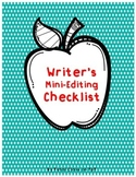 Writer's Mini-Editing Checklist