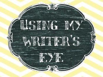 Writer's Eye Chevron Bulletin Board Set