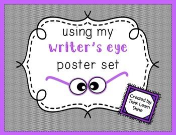 Writer's Eye Editing Posters- Black & White Borders