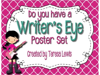 Writer's Eye Editing Posters Rock Star Theme