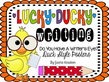 Writer's Eye Posters: Duck Theme