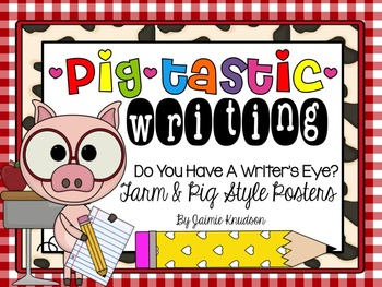 Writer's Eye Posters: Farm and Pig Theme