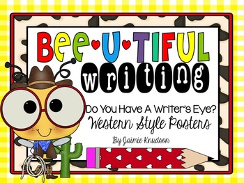 Writer's Eye Posters: Western Bee Theme