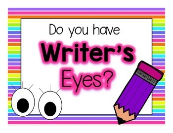 Writer's Eyes! {neon posters & bookmarks}