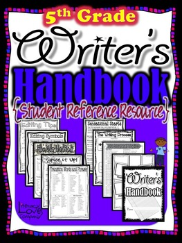 Writers Handbook {Student Reference Resource} 5th Grade